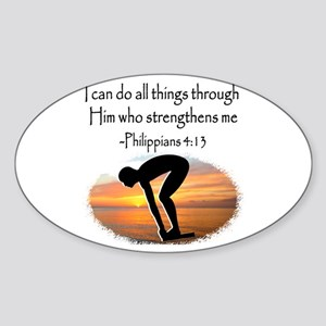 SWIMMER BLESSING Sticker (Oval)