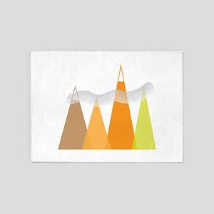 Mountains 5'x7'Area Rug