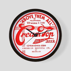 Cream Top Beer-1936 Wall Clock