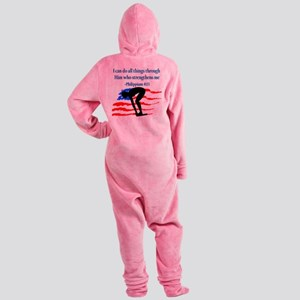 CHRISTIAN SWIMMER Footed Pajamas