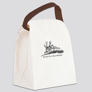 Beware the Wily Jackalope Canvas Lunch Bag