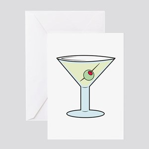 Martini Greeting Cards