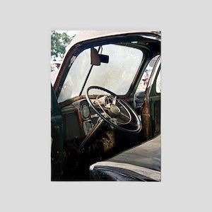 Steering Wheel 5'x7'Area Rug