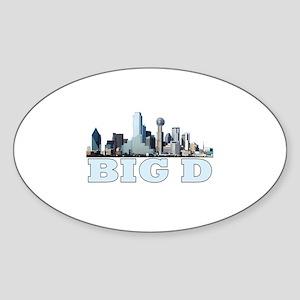 Big D Oval Sticker