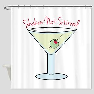 Shaken Not Stirred Shower Curtain