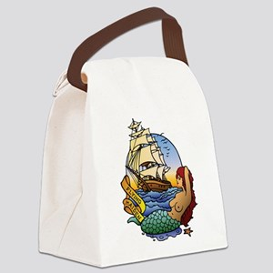 flyingmaidenB Canvas Lunch Bag
