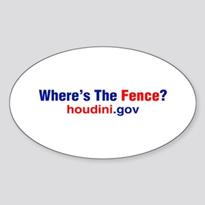 Where's The Fence Oval Sticker