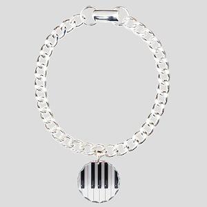 Keyboard 7 Charm Bracelet, One Charm