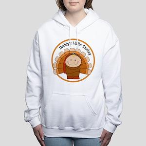 Daddy's Little Turkey Women's Hooded Sweatshirt