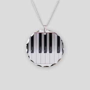 Keyboard 7 Necklace Circle Charm