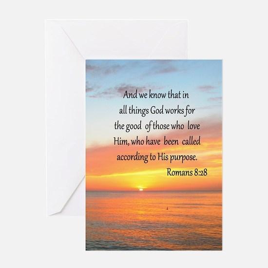 ROMANS 8:28 Greeting Card