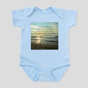 ROMANS 8:28 Infant Bodysuit