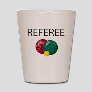 bocce-referee Shot Glass