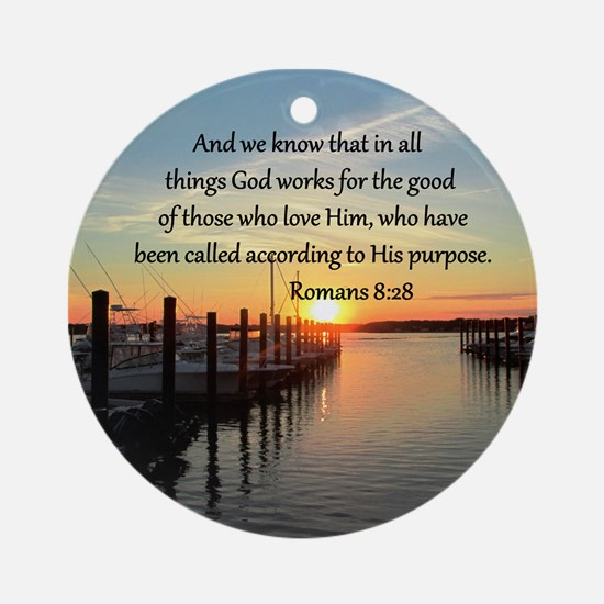 ROMANS 8:28 Ornament (Round)