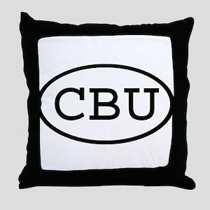 CBU Oval Throw Pillow