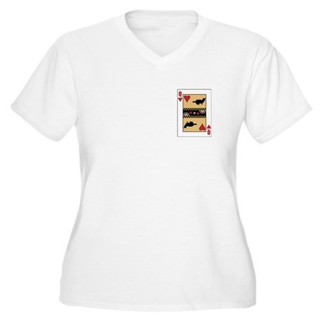 Queen Munchkin Women's Plus Size V-Neck T-Shirt