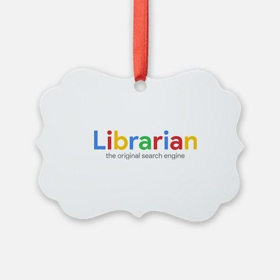 Librarian The Original Search Engine Ornament