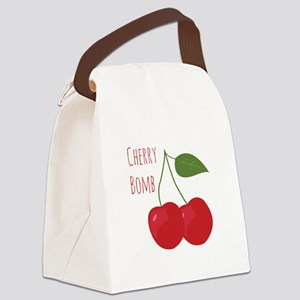 Cherry Bomb Canvas Lunch Bag