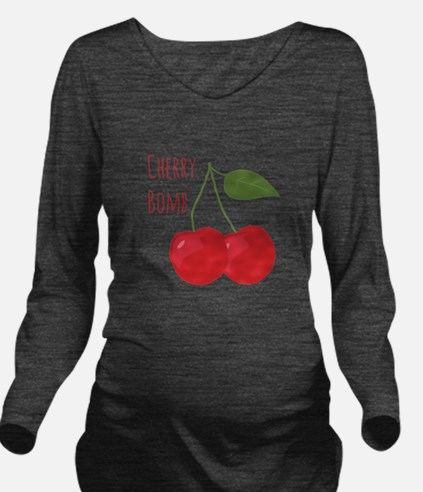 Cherry Bomb Long Sleeve Maternity T-Shirt