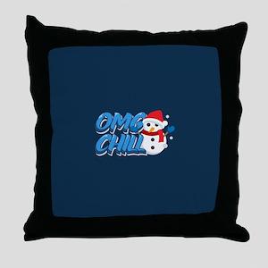 Emoji OMG Chill Throw Pillow