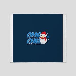 Emoji OMG Chill Throw Blanket