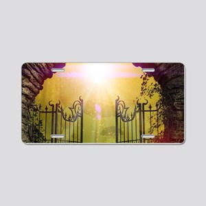 The gate to the land of dreams Aluminum License Pl