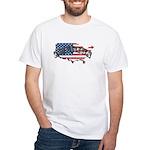 Vintage America White T-Shirt