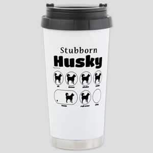 Stubborn Husky v2 Stainless Steel Travel Mug