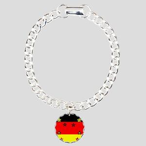 Germany four Stars Charm Bracelet, One Charm