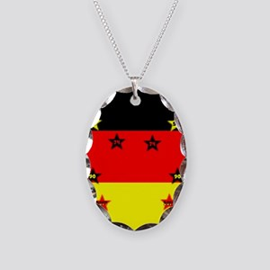 Germany four Stars Necklace Oval Charm