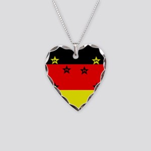 Germany four Stars Necklace Heart Charm