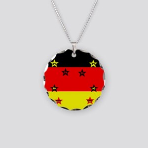 Germany four Stars Necklace Circle Charm