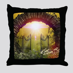The gate to the land of dreams Throw Pillow