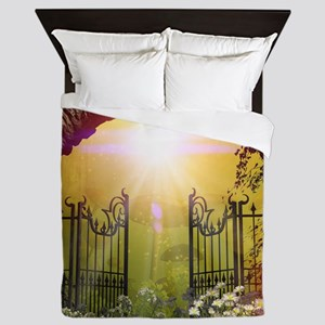 The gate to the land of dreams Queen Duvet