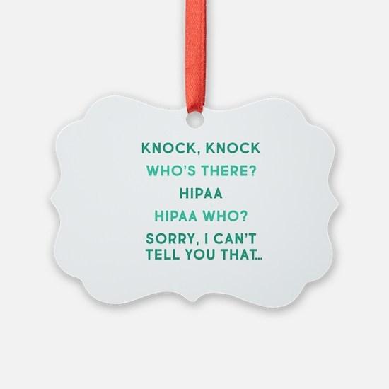 Knock Knock HIPAA Ornament