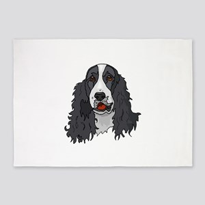 English Springer Spaniel 5'x7'Area Rug