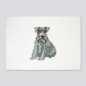Kerry Blue Terrier 5'x7'Area Rug
