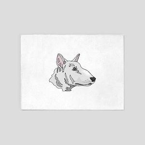 Bull Terrier 5'x7'Area Rug