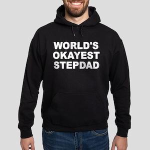 World's Okayest Stepdad Hoodie (dark)