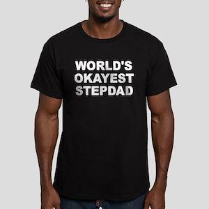World's Okayest Stepda Men's Fitted T-Shirt (dark)