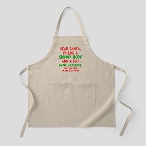 Dear Santa Skinny Body Apron