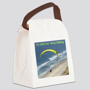 Hang Gliding Canvas Lunch Bag