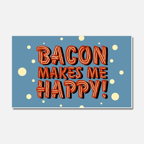 bacon-makes-me-happy_b.png Car Magnet 20 x 12