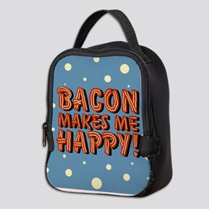 bacon-makes-me-happy_b Neoprene Lunch Bag