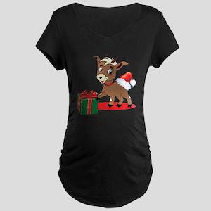 Little Goat Ready for Christmas Maternity T-Shirt