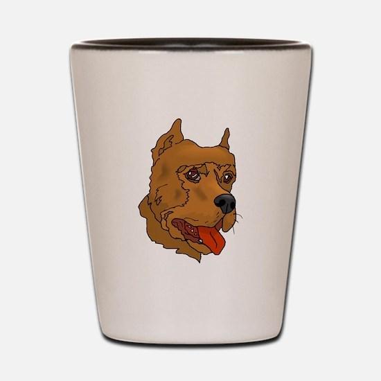 Perro de Presa Canario Shot Glass