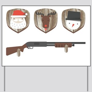 FUNNY Christmas Trophies for Hunters Yard Sign