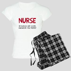Nurse badass life saver Women's Light Pajamas