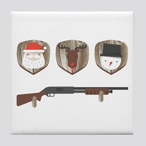 FUNNY Christmas Trophies for Hunters Tile Coaster