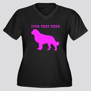Pink Newfoundland (Custom) Plus Size T-Shirt